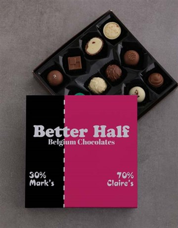 love-and-romance: Personalised Better Half Choc Tray!