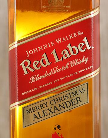 personalised: Personalised Johnnie Walker Red!