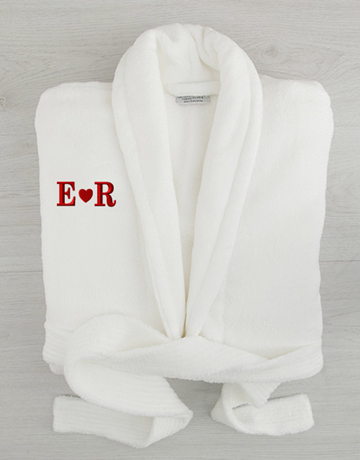 personalised: Personalised Heart Initials Fleece Gown!