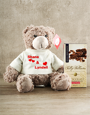 valentines-day: Personalised Teddy with Nougat !