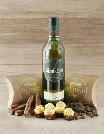 gourmet: Glenfiddich Scotch Whiskey and Biltong Hamper!