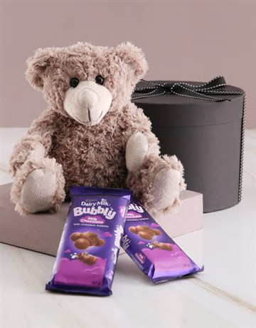 teddy-bears: Gift Box with Teddy and Cadbury Chocolates!
