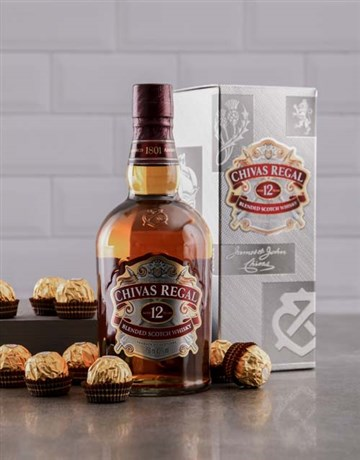 valentines-day: 12 Year Chivas Regal and Ferrero Rocher Hamper!