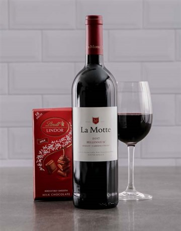 valentines-day: La Motte Wine and Lindt Chocolate!