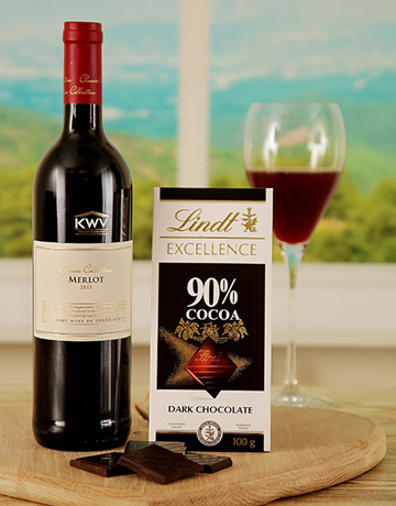 valentines-day: Merlot and Lindt Excellence Duo !