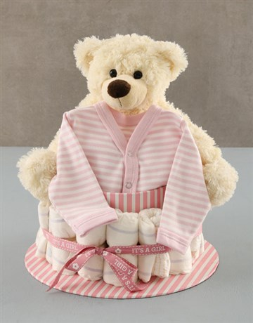 baby: Its a Girl Nappy Cake!