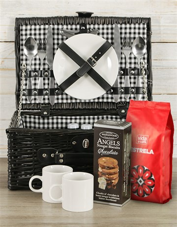 valentines-day: Coffee Lover's Picnic Basket!