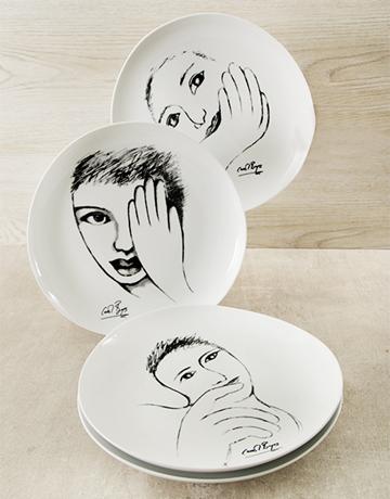 rosh-hashanah: Carrol Boyes Face Dinner Plate Set!