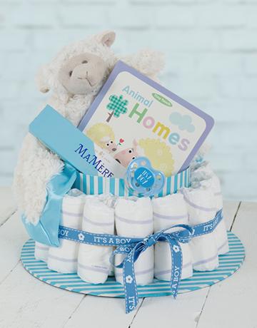 baby: Blue Baa Baa Baby and Mommy Nappy Cake!