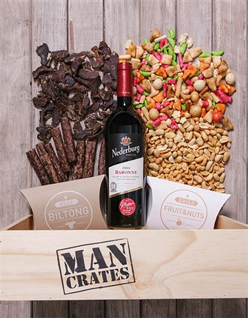 easter: Red Wine Biltong and Nuts Man Crate!