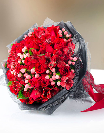 flowers: Red Rose Bouquet!