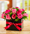 Mixed Pink Roses in a Box