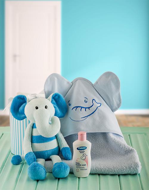 baby: Baby Boy Elephant Bath Time Set!