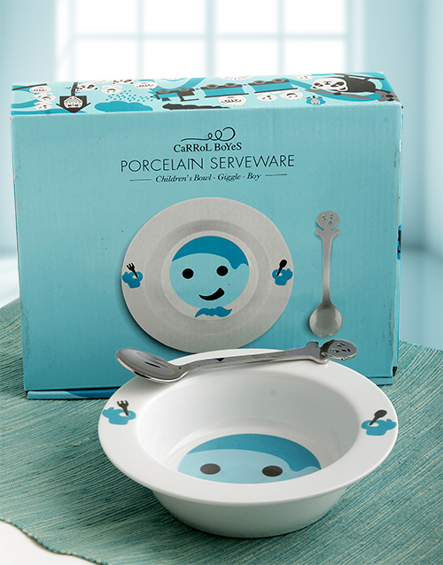 homeware: Carrol Boyes Giggle Bowl Gift Set for Boys!