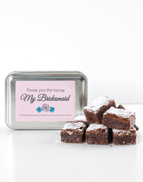 brownies: Personalised Thank You Choc Chunk Brownie Tin!