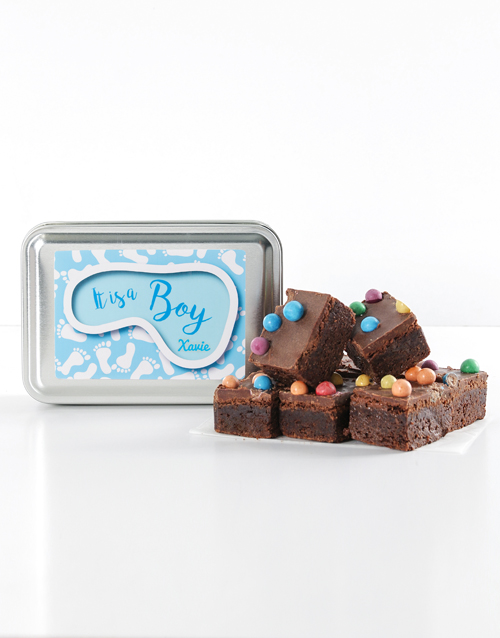 baby: Personalised Baby Boy Astro Brownies!
