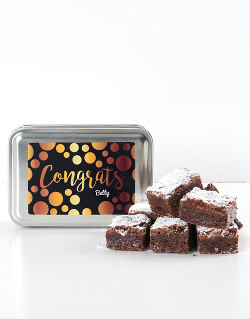 personalised: Personalised Congrats Chunky Chocolate Brownies!