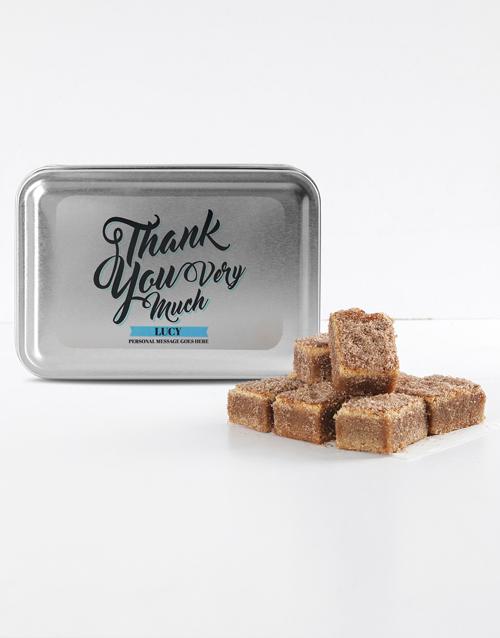 brownies: Personalised Thank You Cinnamon Sugar Blondies!