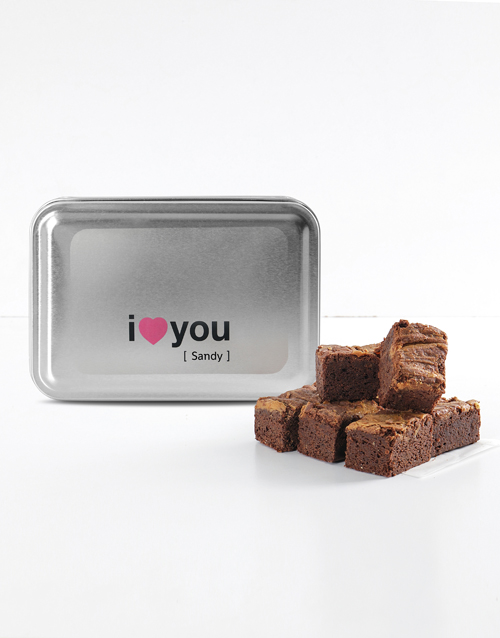personalised: Personalised I Love You Peanut Butter Brownies!
