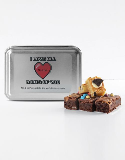 brownies: Personalised Love Pixels Mixed Delights Brownies!