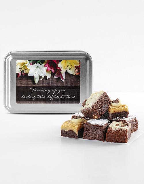 bakery: Sympathy Brownie Tin!