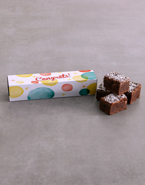personalised: Congrats Brownie Box !