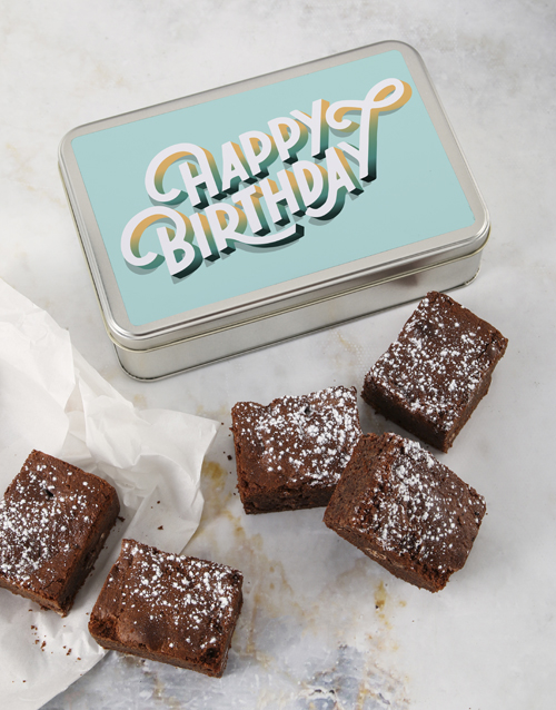 brownies: Birthday Wishes Brownie Tin!