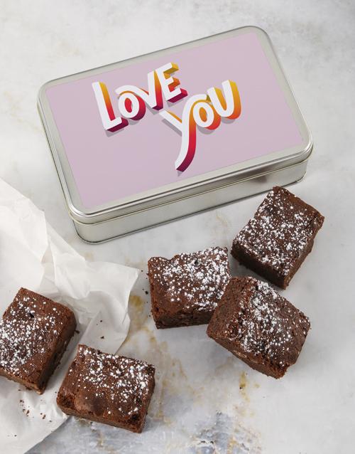 brownies: Love You Brownie Tin!