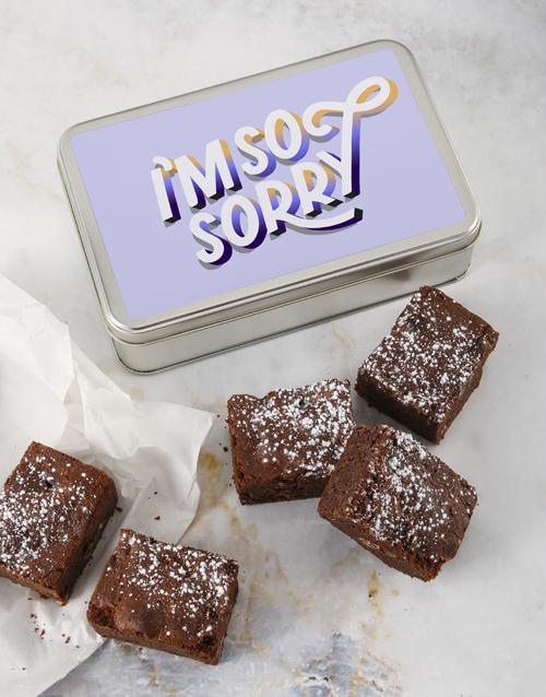 brownies: So Sorry Brownie Tin!