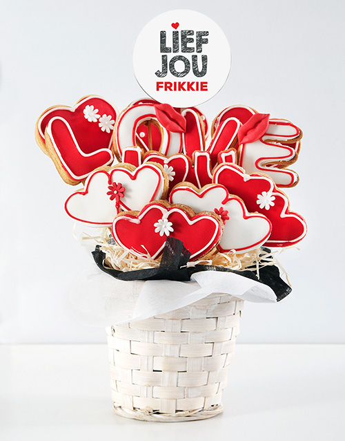 cookies-and-biscuits: Personalised Lief jou Cookie Bouquet!