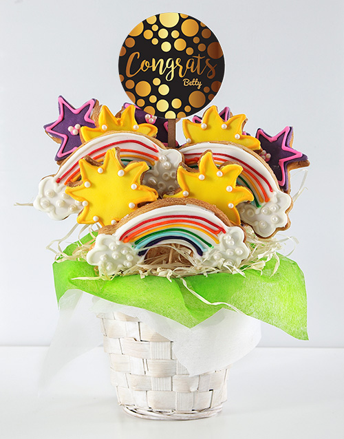 personalised: Personalised Congrats Cookie Bouquet!
