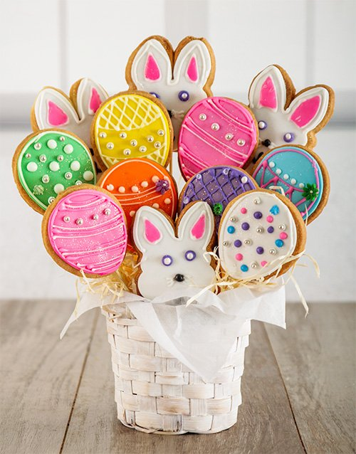 easter: Easter Egg Hunt Cookie Bouquet!