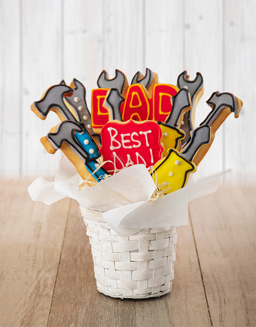 birthday: Tools For Dad Cookie Bouquet!