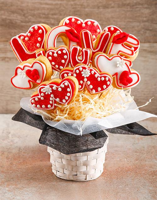 valentines-day: Sweet Love Cookie Bouquet!