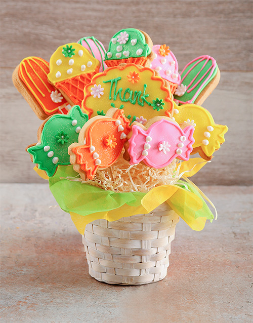 cookies-and-biscuits: Thank You Treats Cookie Bouquet!