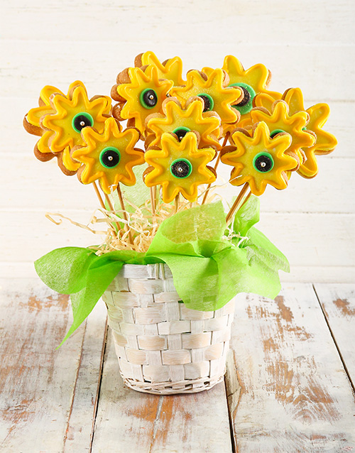 cookies-and-biscuits: Sunflower Cookie Bouquet!