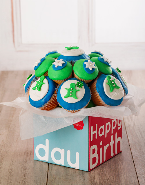 cupcake-bouquets: Happy Birthday Cupcake Bouquet for Him !