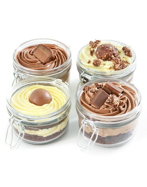 cupcake-jars: Chocolate Dream Cake Jar Combo!