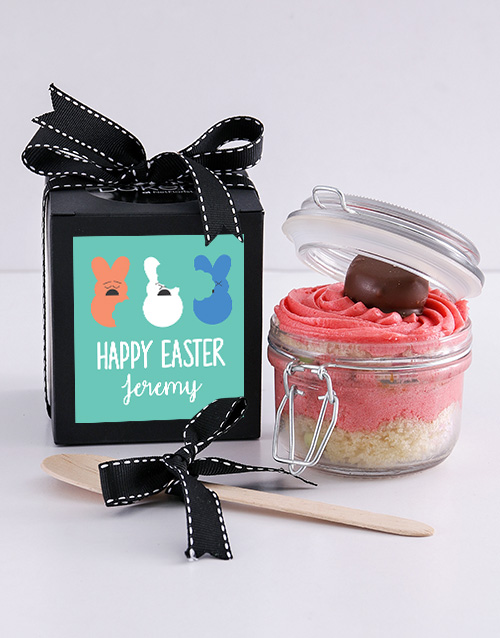 easter: Personalised Speckled Egg Marshmallow Cupcake Jar!