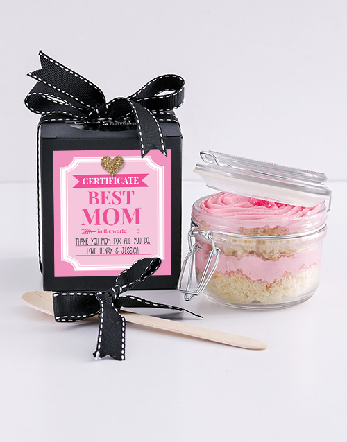 mothers-day: Personalised Best Mom Turkish Delight Cupcake Jar!