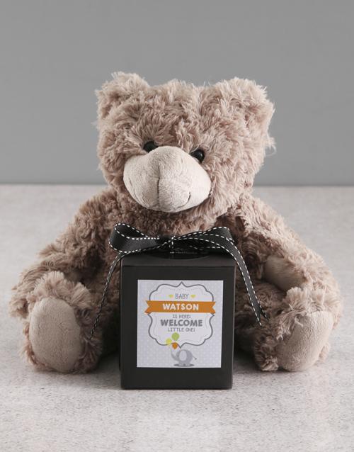 baby: Personalised New Baby Vanilla Cake Jar!