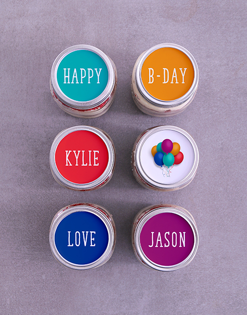 birthday: Personalised Bright Birthday Cake Jars!