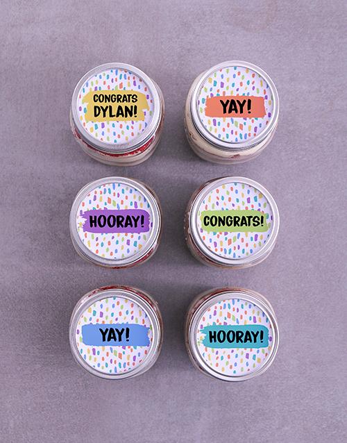 personalised: Personalised Congrats Cake Jars!