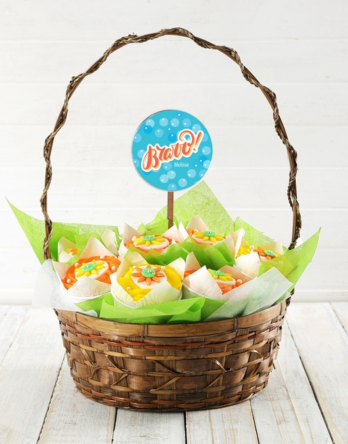 cupcake-bouquets: Personalised Bravo Cupcake Bouquet!