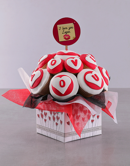 cupcake-bouquets: Personalised Romantic Love Cupcake Bouquet!