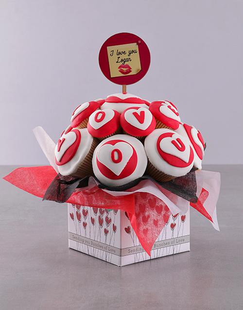 personalised: Personalised Romantic Love Cupcake Bouquet!