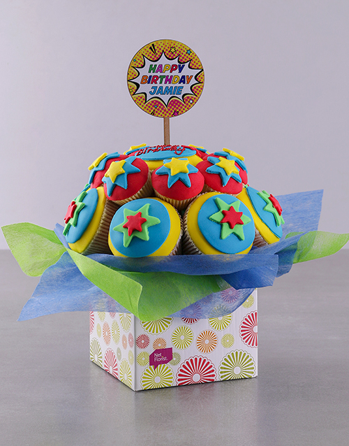 personalised: Personalised Super Duper Birthday Cupcake Bouquet!