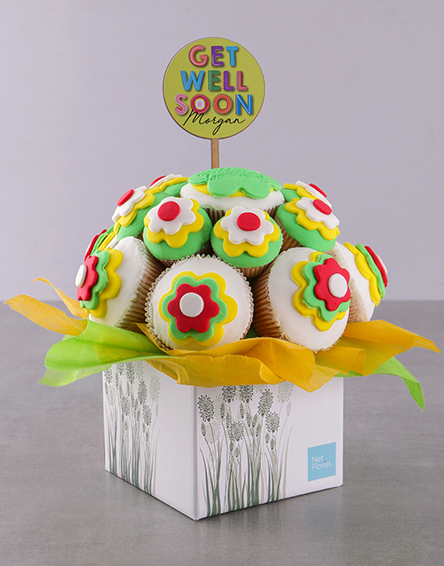 personalised: Personalised Get Well Soon Cupcake Bouquet!