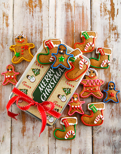 christmas: Gingerbread Family Christmas Cookie Tin!