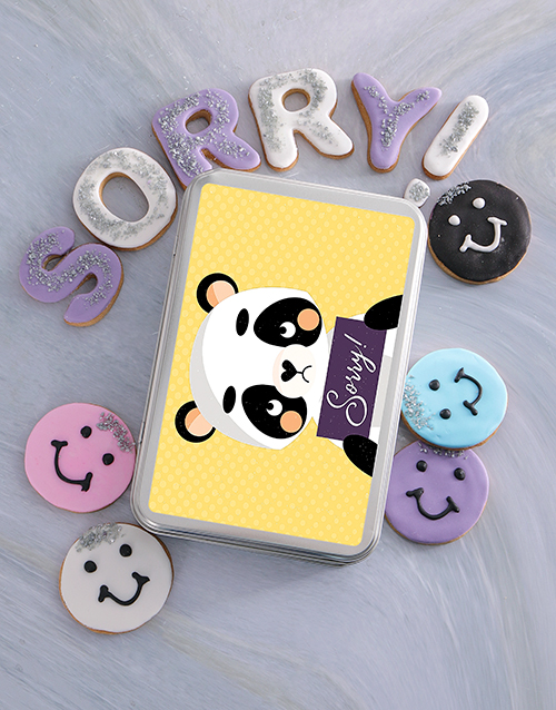 cookies-and-biscuits: Sorry Panda Cookie Tin!